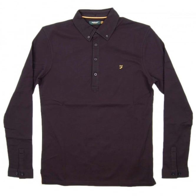 Farah Merriweather Long Sleeve Polo Black