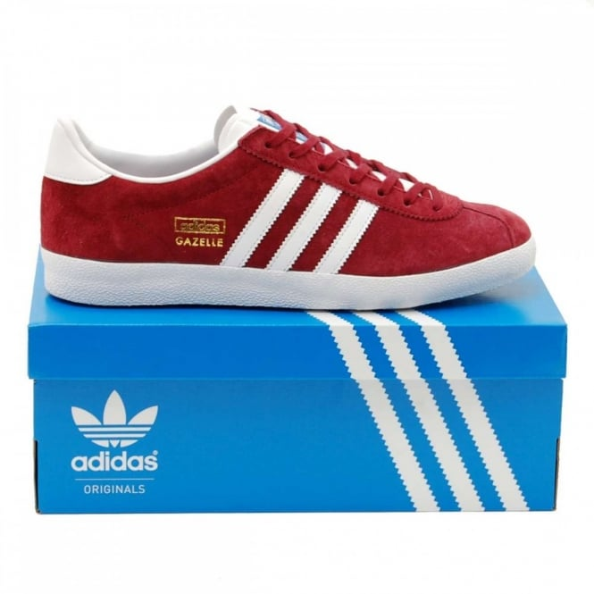 Adidas Gazelle Og Burgundy Leather