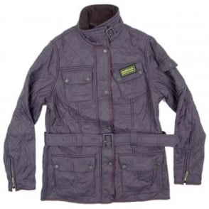 Barbour Ladies International Polarquilt Jacket Purple
