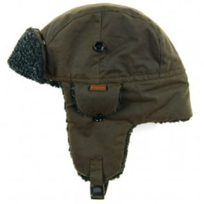 Barbour Fleece Lined Hunter Hat Olive