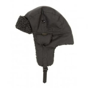 Barbour Fleece Lined Hunter Hat Black