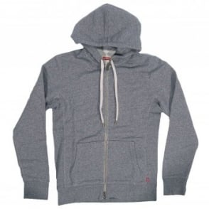 Levi's Original Zip Up Hoodie Grey Heather