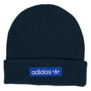 Adidas Originals Woven logo Beanie Uniform Blue