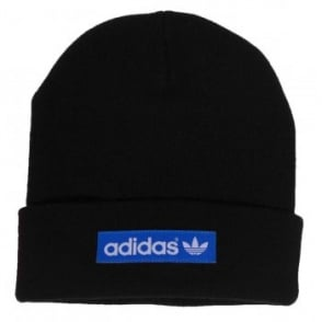 Adidas Originals Woven logo Beanie Black