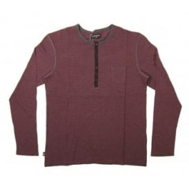 Loreak Mendian Deal T-Shirt Stripe Burgundy Heather