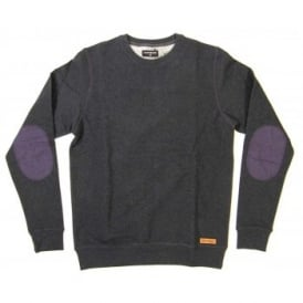 Loreak Mendian Gabrielle Crew Sweat Heather Black