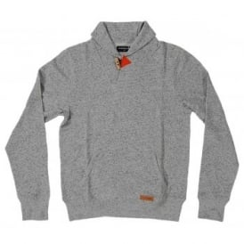 Loreak Mendian Shawl Collar Haddock Sweat Heather Grey