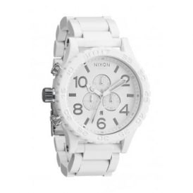 Nixon 51-30 Chrono All White Silver