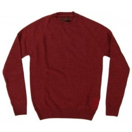 Barbour Staple Crew Jumper Ruby