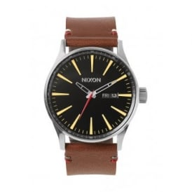Nixon Sentry Leather Black Brown