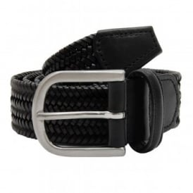 Anderson's Woven Leather Stretch Belt Black