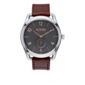 Nixon C45 Leather Grey Rose Gold