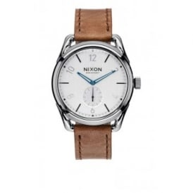 Nixon C39 Leather Gunmetal Chestnut