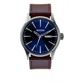 Nixon Sentry Leather Blue Brown