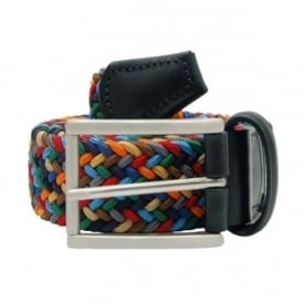 Anderson's Stretch Woven Belt Navy Bright Mix