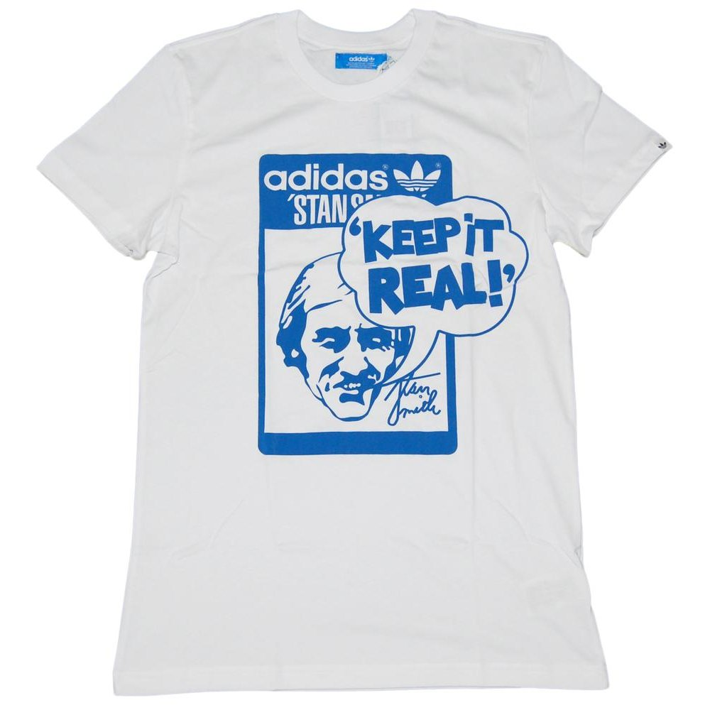adidas originals stan t shirt white mens t shirts from attic clothing uk. Black Bedroom Furniture Sets. Home Design Ideas