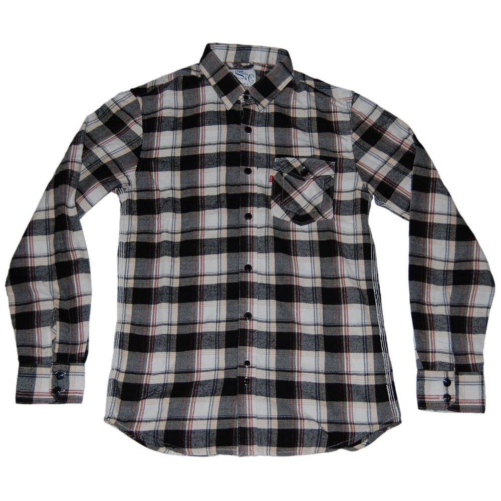 Levi 39 S Ls Tab Collar Shirt Black Check Mens Shirts From