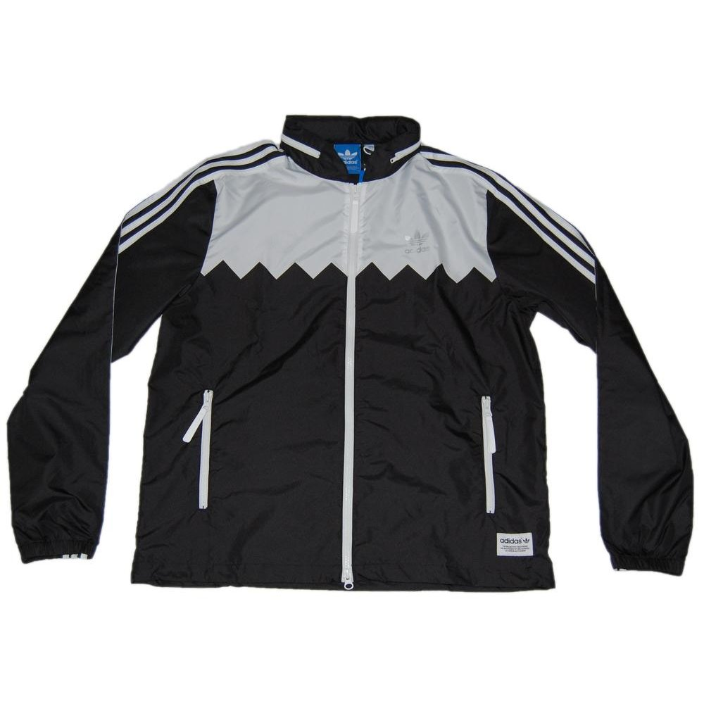 adidas originals ot ss wind jacket black mens jackets from attic clothing uk. Black Bedroom Furniture Sets. Home Design Ideas