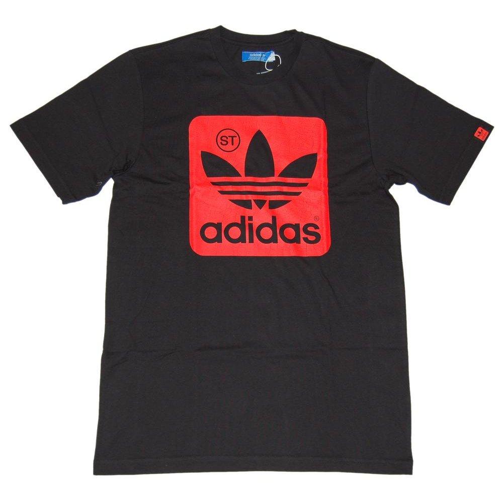Adidas Originals St Logo T Shirt Black Mens T Shirts
