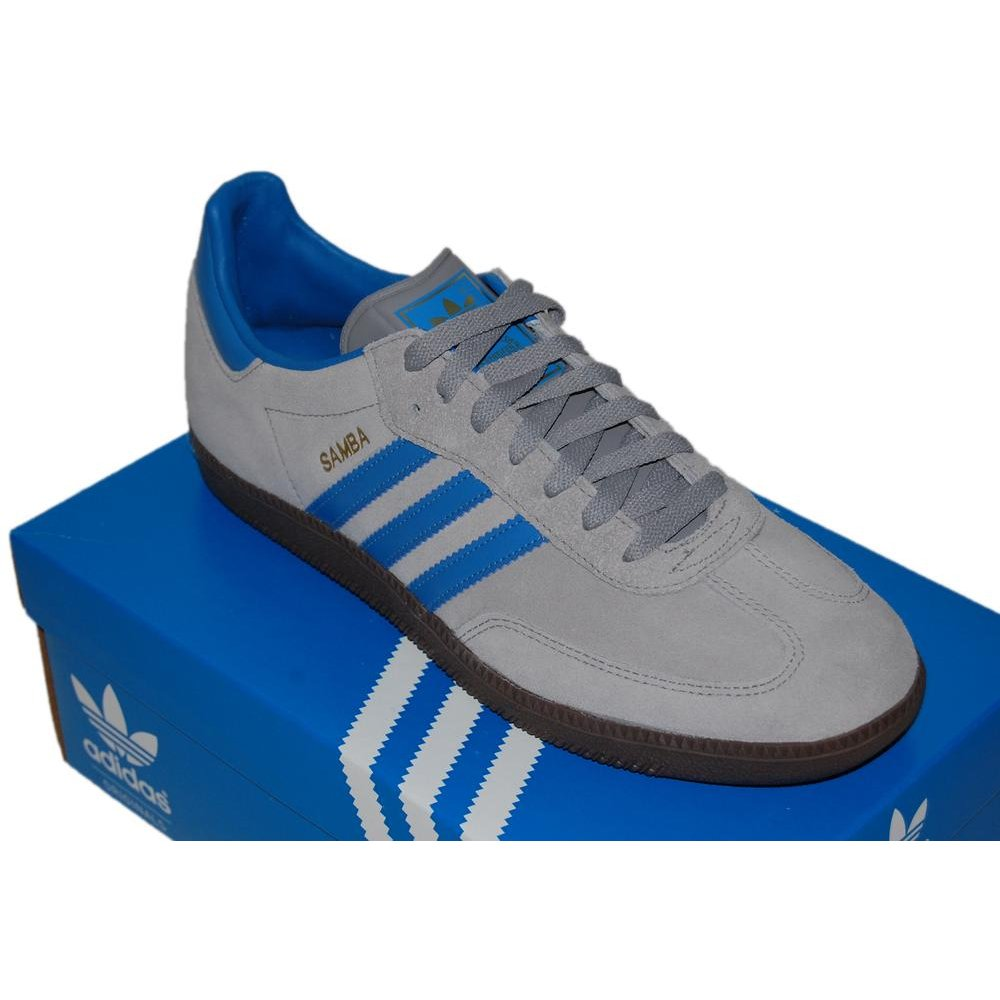 adidas originals samba aluminium fresh blue mens shoes. Black Bedroom Furniture Sets. Home Design Ideas