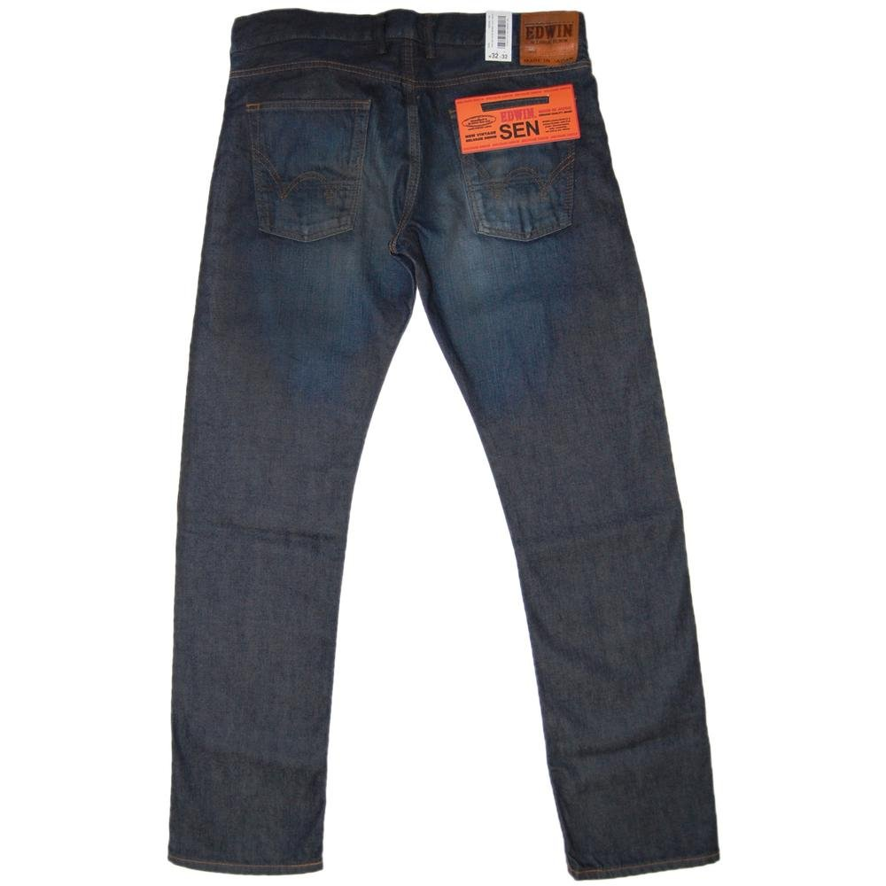 edwin sen selvage skinny jeans dark used mens jeans from