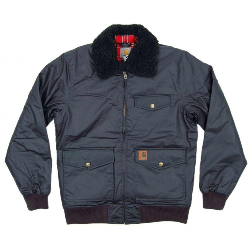 carhartt falcon waxed jacket navy mens jackets from