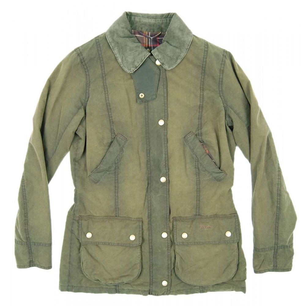barbour ladies vintage beadnell jacket olive womens jackets from attic clothing uk. Black Bedroom Furniture Sets. Home Design Ideas