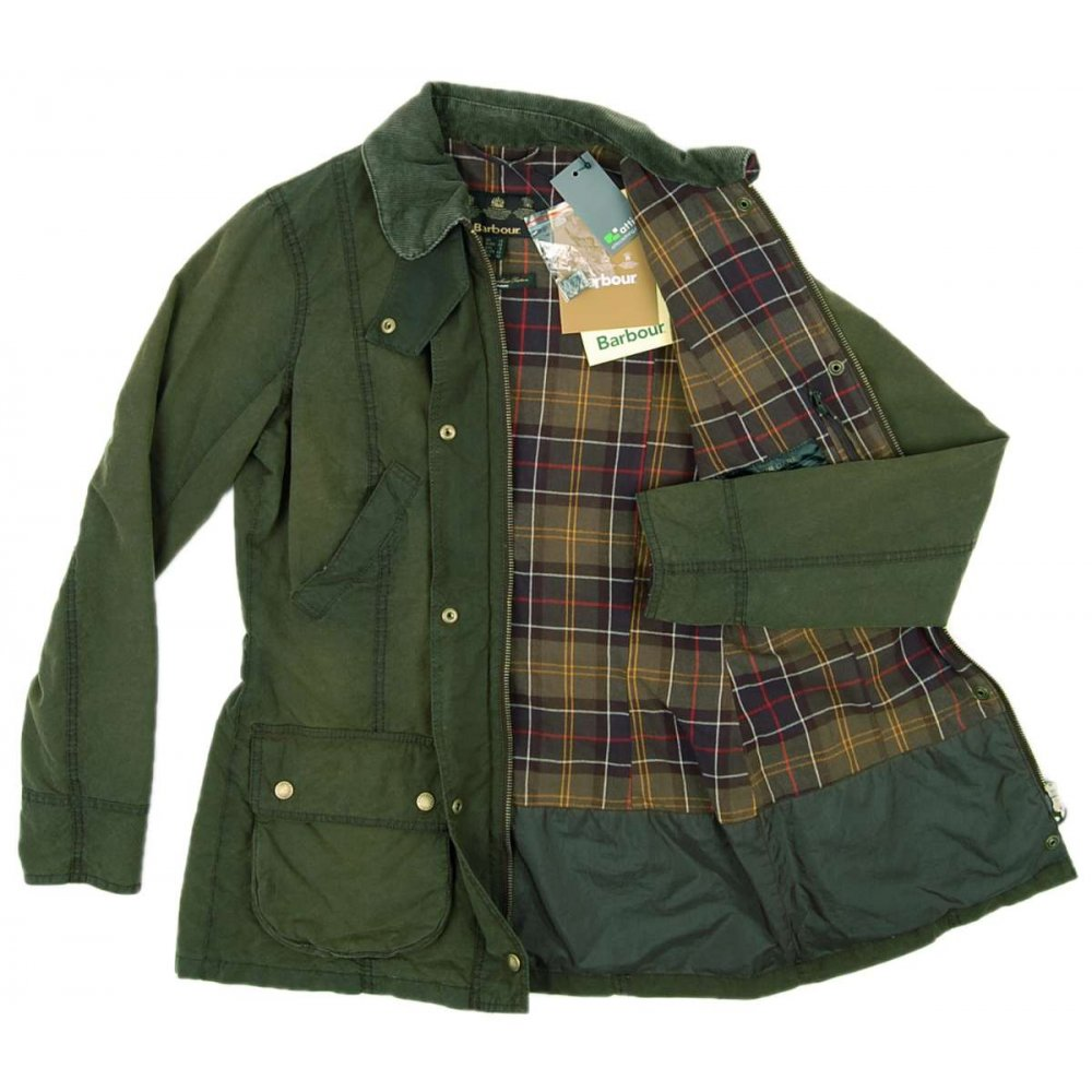 Barbour Ladies Vintage Beadnell Jacket Olive Womens