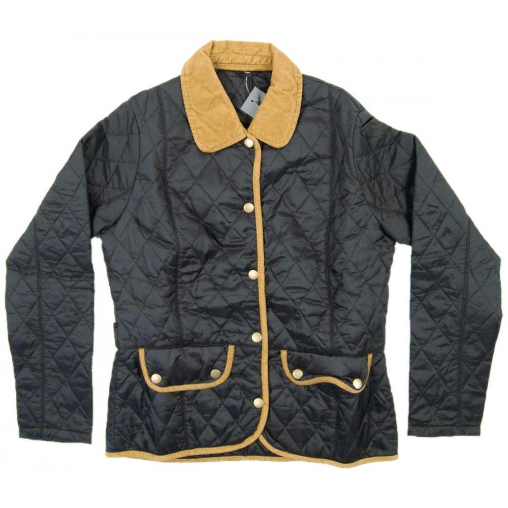 Barbour Ladies Vintage Quilted Jacket Black Womens