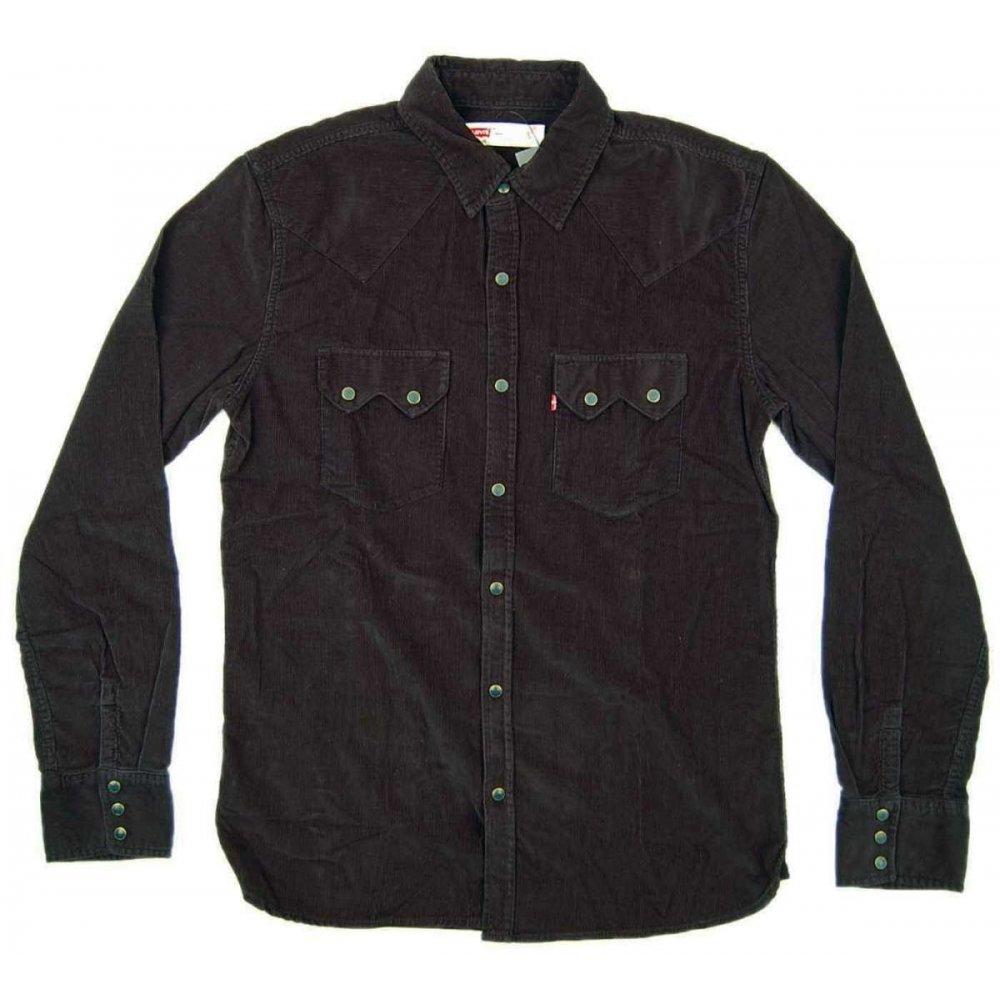 levi 39 s ls sawtooth shirt black cord mens shirts from