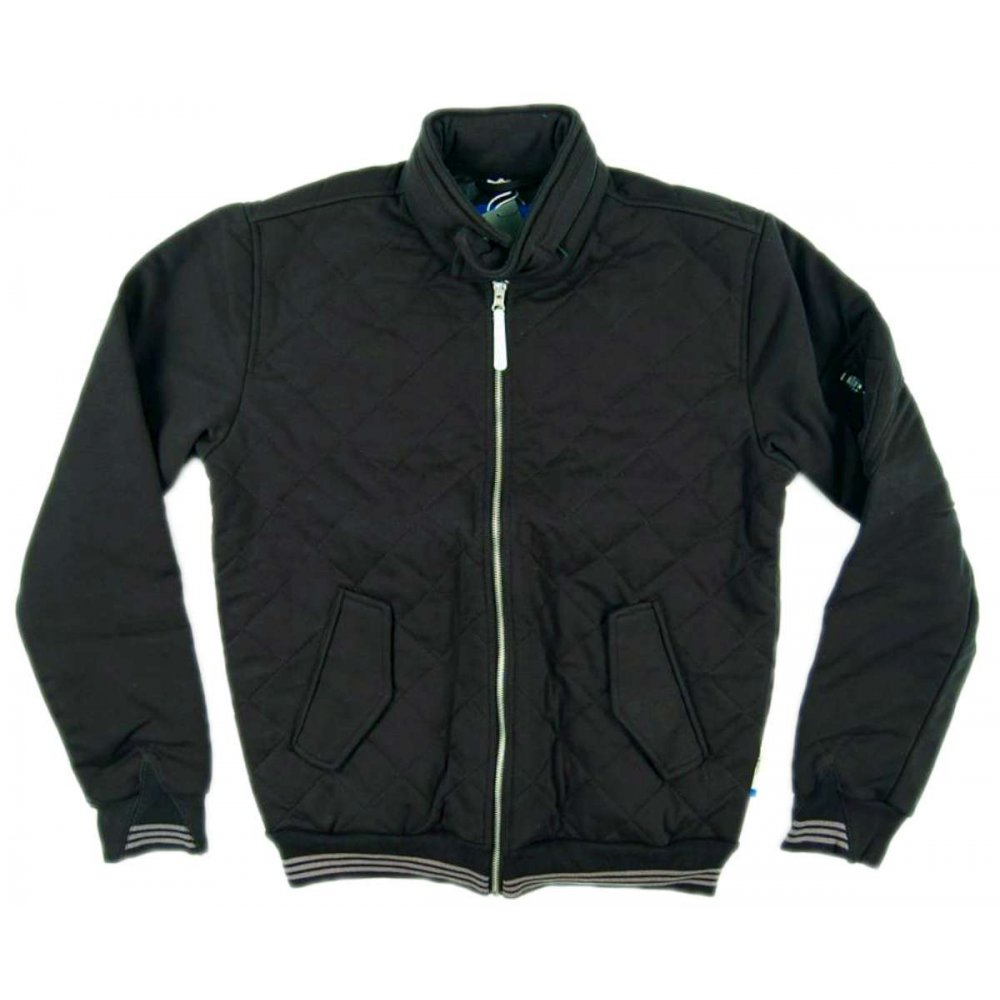 adidas originals quilted sweat jacket black mens jackets from attic clothing uk. Black Bedroom Furniture Sets. Home Design Ideas