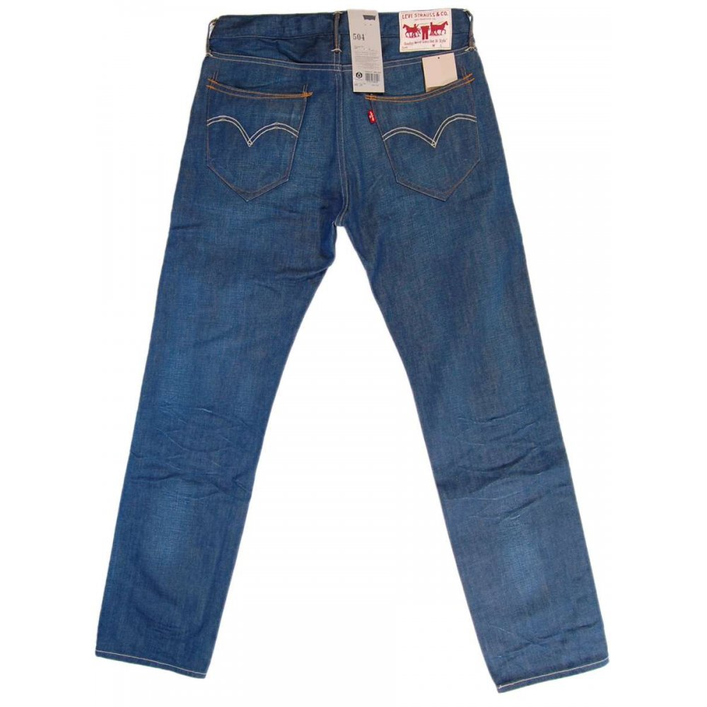 levi 39 s 504 jeans ice wash mens jeans from attic clothing uk. Black Bedroom Furniture Sets. Home Design Ideas