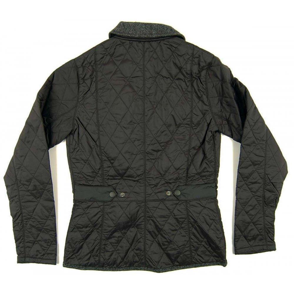 Barbour Ladies Vintage Tweed Quilt Jacket Black Womens