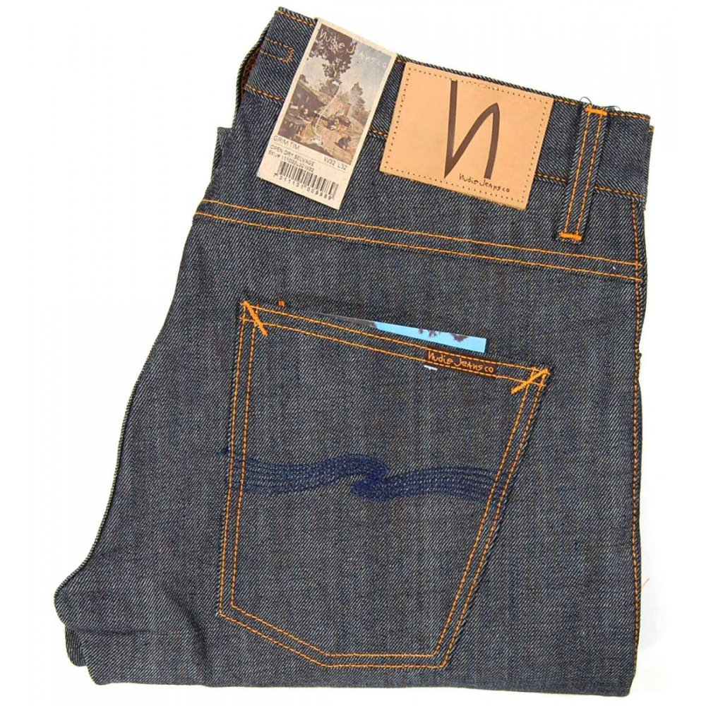nudie jeans grim tim jeans open dry selvedge mens jeans. Black Bedroom Furniture Sets. Home Design Ideas