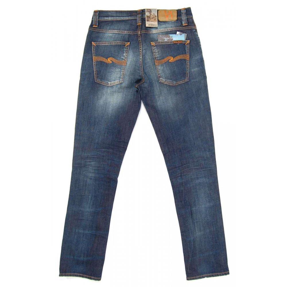 nudie jeans grim tim jeans organic white knee mens jeans. Black Bedroom Furniture Sets. Home Design Ideas