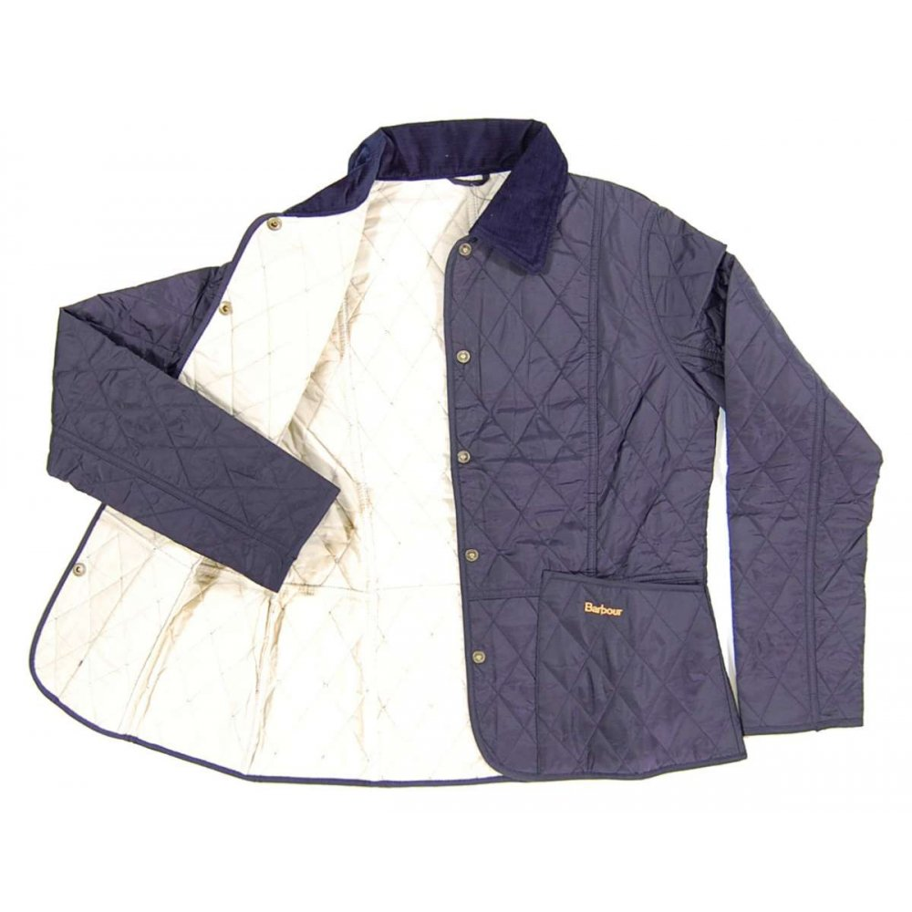 Barbour Ladies Summer Liddesdale Quilt Jacket Navy ...