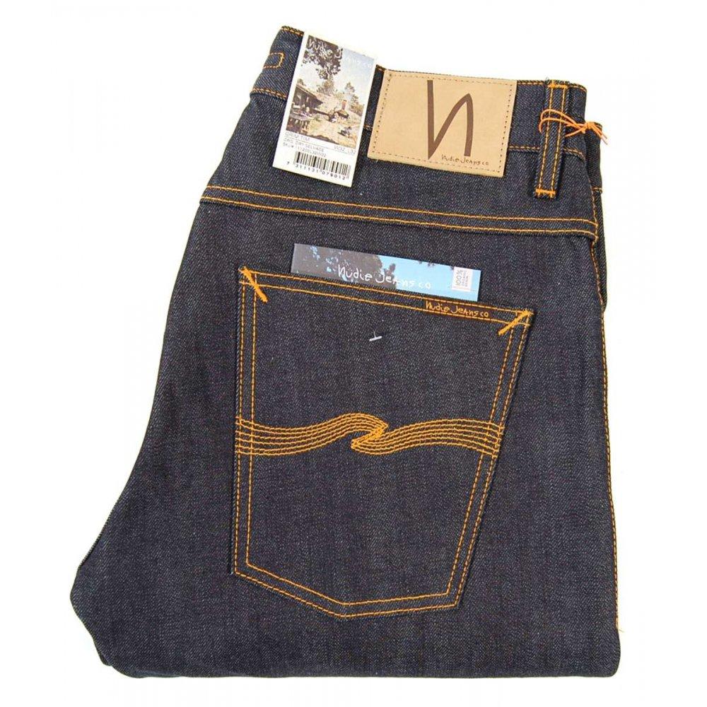 nudie jeans grim tim jeans organic dry selvedge mens. Black Bedroom Furniture Sets. Home Design Ideas