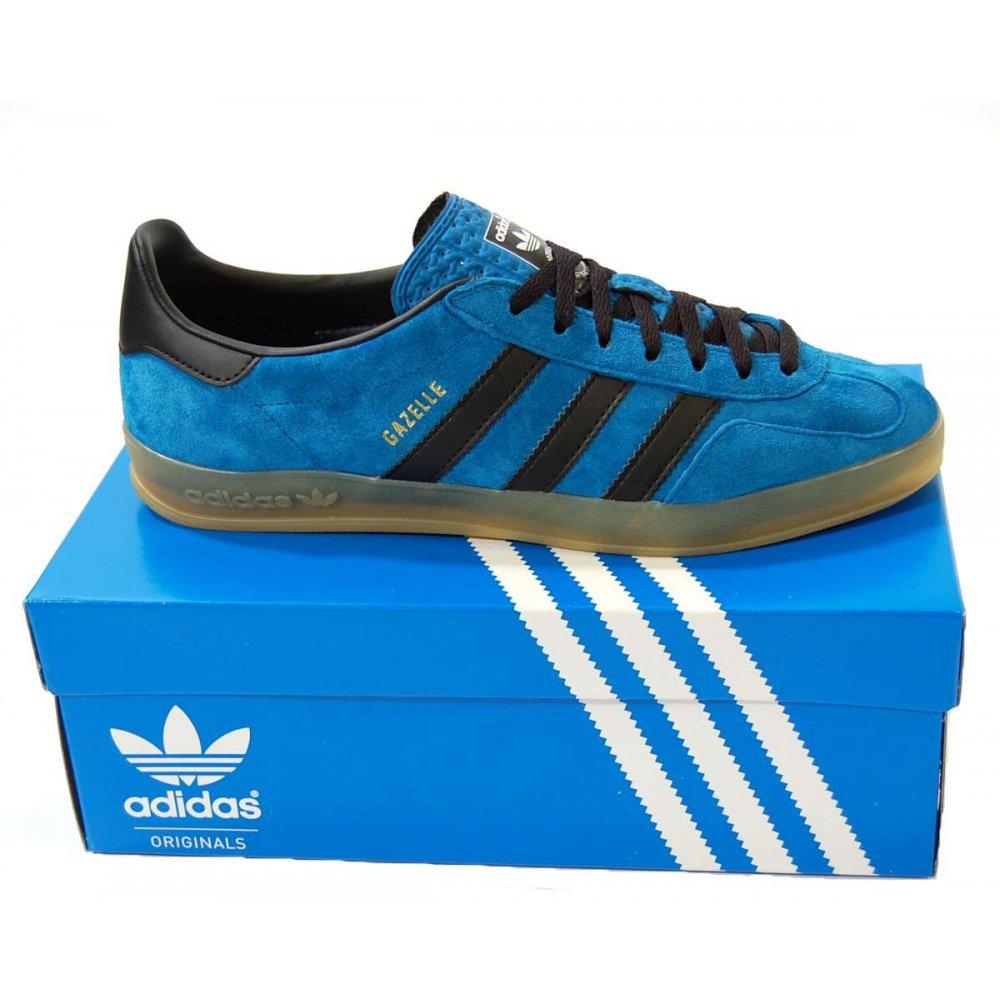 adidas originals gazelle indoor royal blue black mens