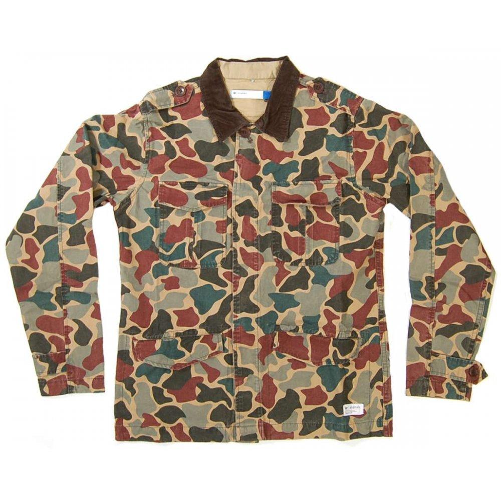 adidas originals camo safari jacket craft canvas mens. Black Bedroom Furniture Sets. Home Design Ideas