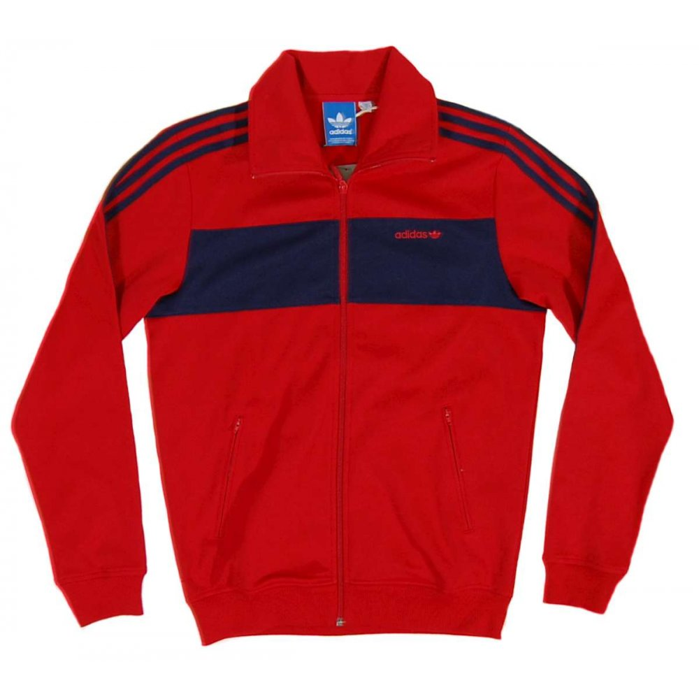 adidas originals sport beckenbauer track top uni red. Black Bedroom Furniture Sets. Home Design Ideas