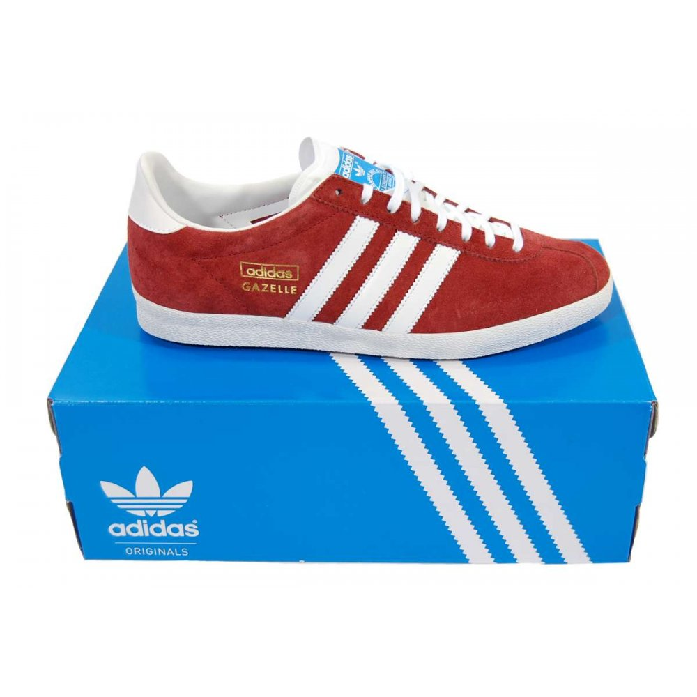 Adidas Originals Gazelle Og Trainers - Blue/Red