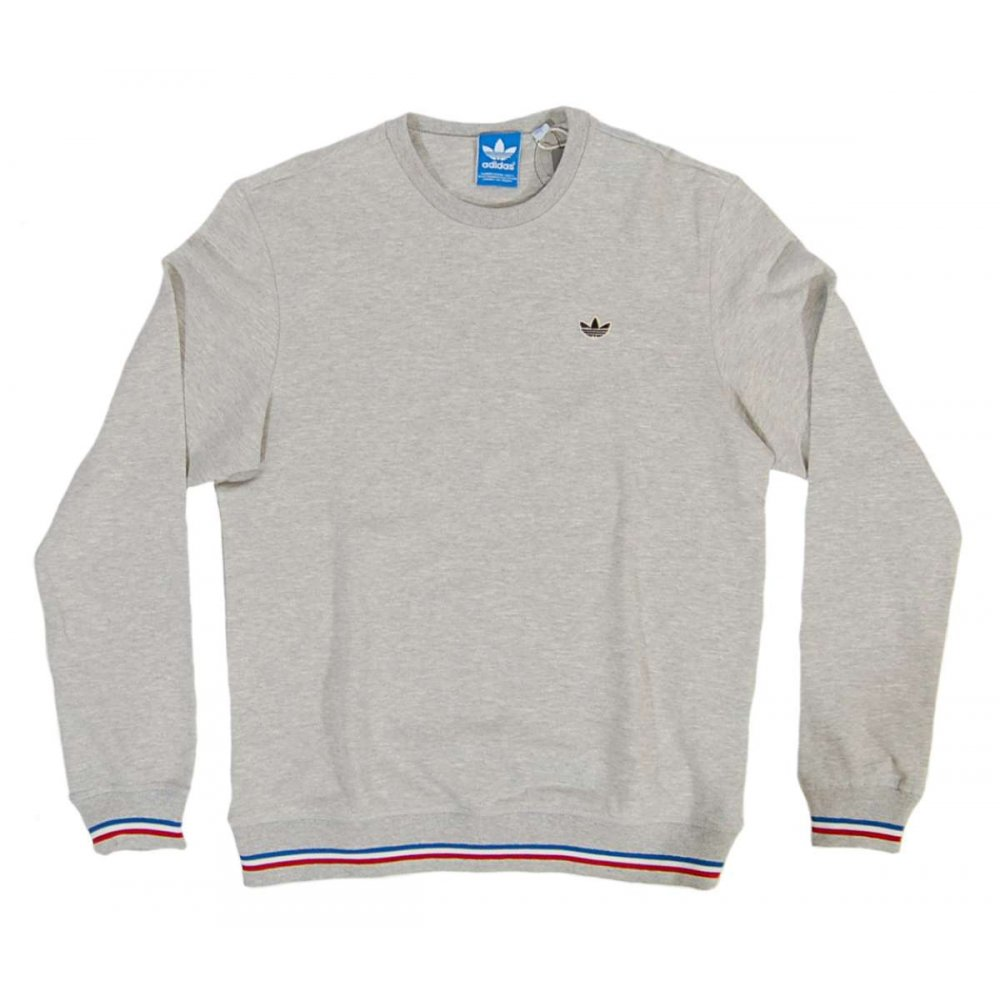 adidas originals pb crew sweatshirt med grey heather. Black Bedroom Furniture Sets. Home Design Ideas