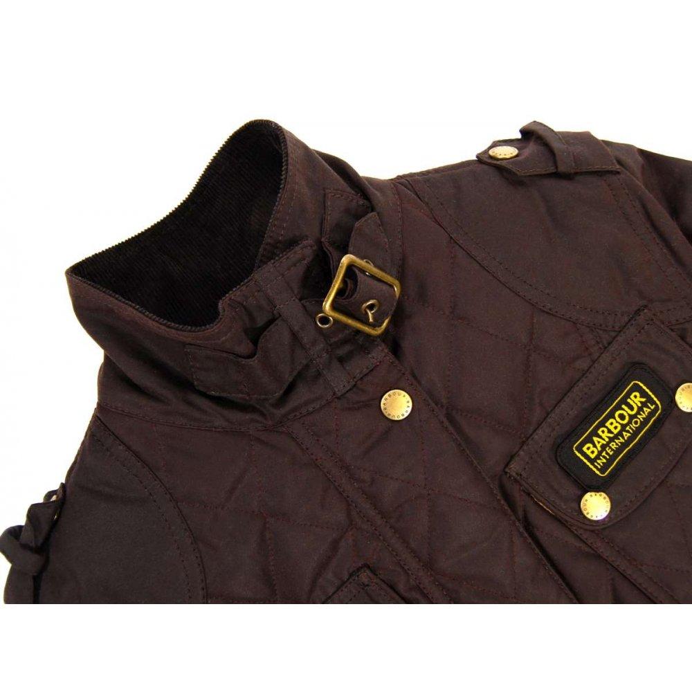 Barbour Ladies Quilted International Jacket Brown Womens