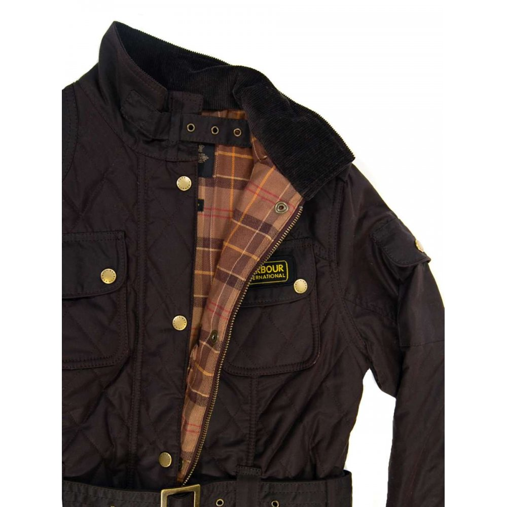 Barbour Ladies Quilted International Jacket Brown Womens