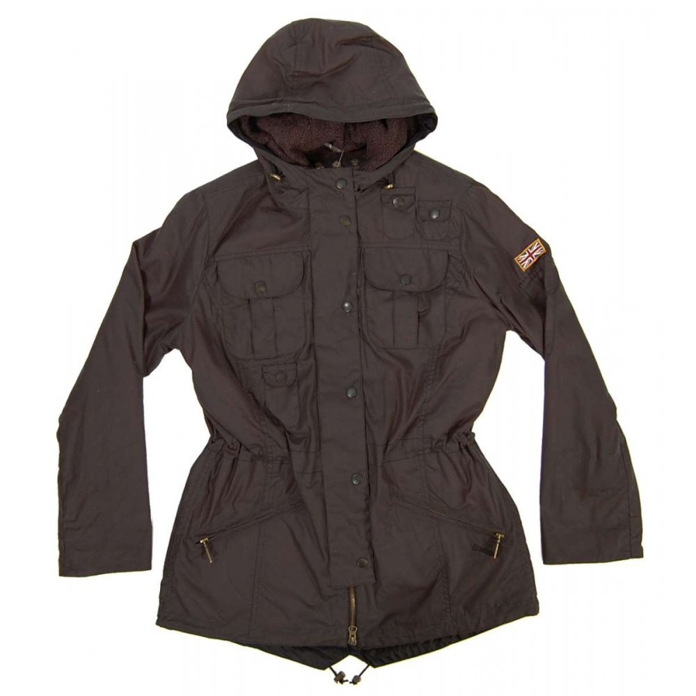 Barbour Ladies Winter Force Parka Charcoal Womens