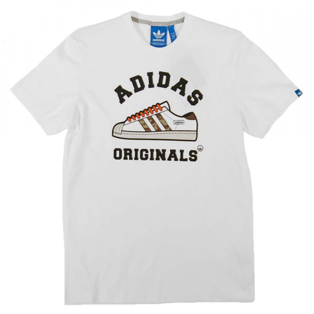 adidas originals camo t shirt white mens t shirts from attic clothing uk. Black Bedroom Furniture Sets. Home Design Ideas