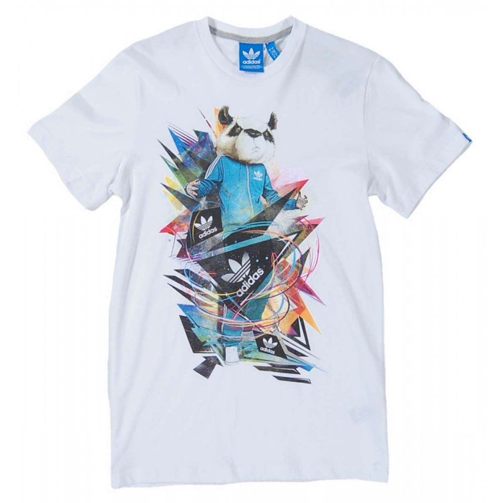 adidas originals panda t shirt white mens t shirts from. Black Bedroom Furniture Sets. Home Design Ideas