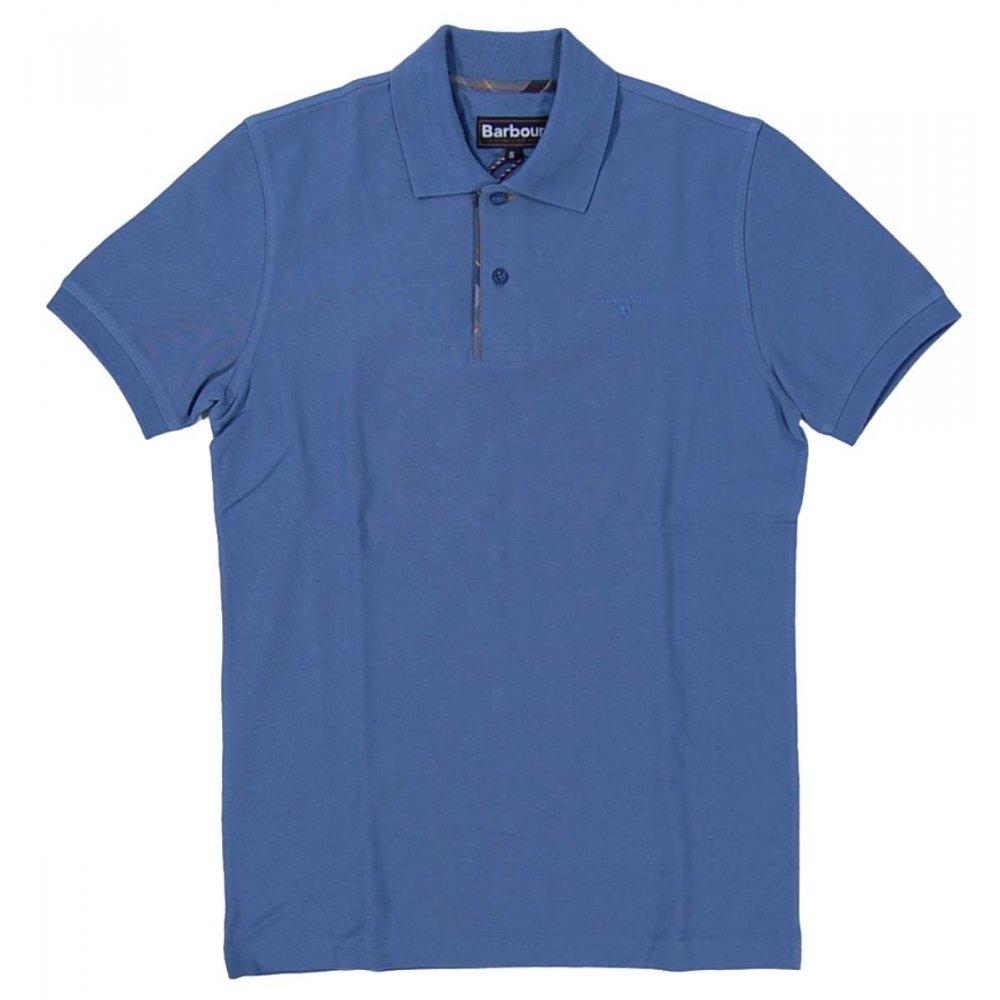 Barbour hurlingham polo cobalt blue mens polos from for Cobalt blue polo shirt