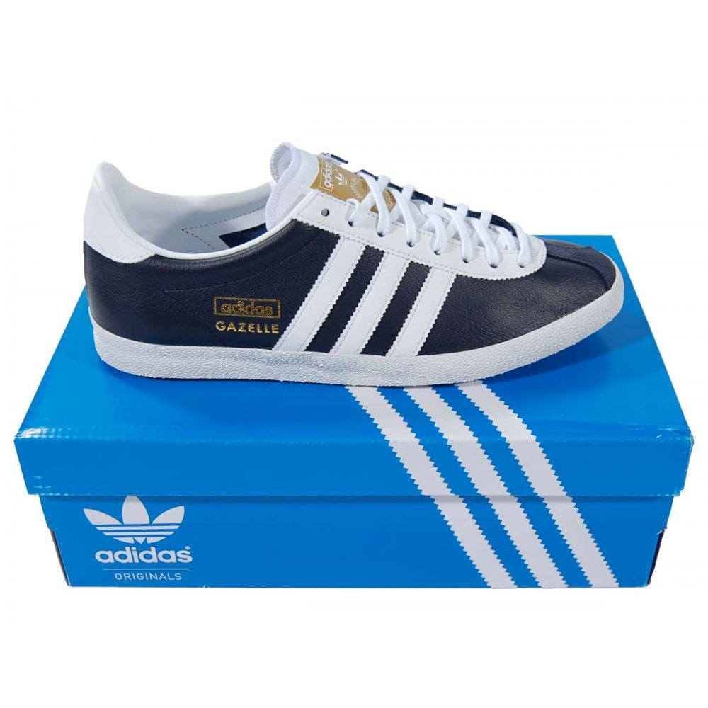 adidas originals gazelle og leather legend ink mens