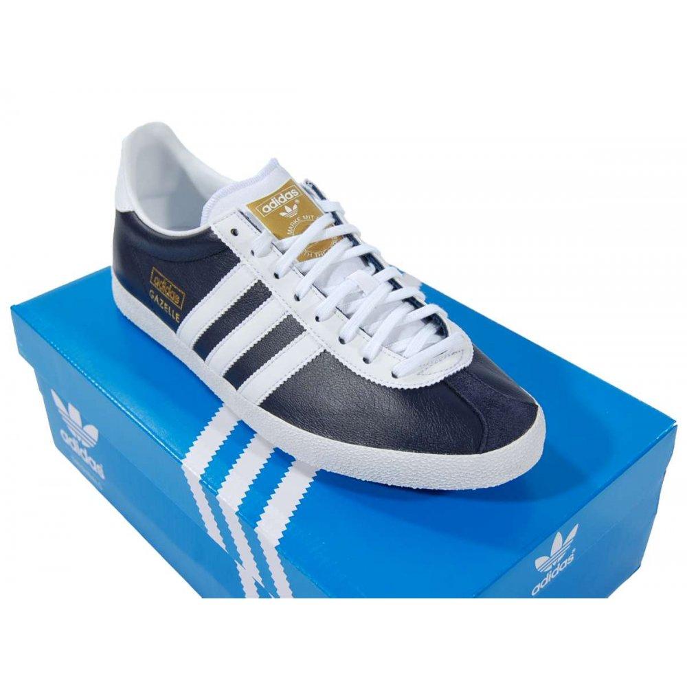 Adidas Originals Gazelle Og Leather Navy